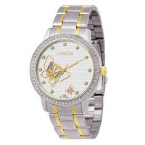 Relógio Feminino Lince Com Borboletas E Pedras Lrt4116l S1sk