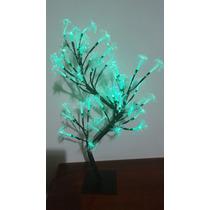 Luminaria Árvore Fibra Otica Cor Verde Linda Luminaria