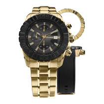 Relógio Masculino Technos Performance Carbon Js15bd/4p Gold