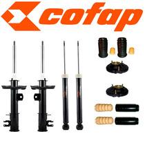 Kit 4 Amortecedores Punto + Kits + Coxim + Cofap - Novo