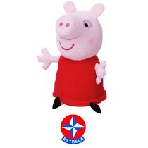Boneca Peppa Pig Pelúcia 30cm Original Da Estrela Licenciada