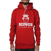 Blusa Moleton Kings Sneakers Canguru Imperdível Confira !!!