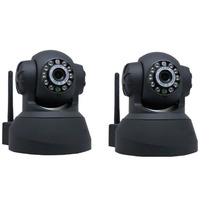 Kit 2 Câmeras Ip Wifi Sem Fio Vigilância Pelo Celular Com 3g