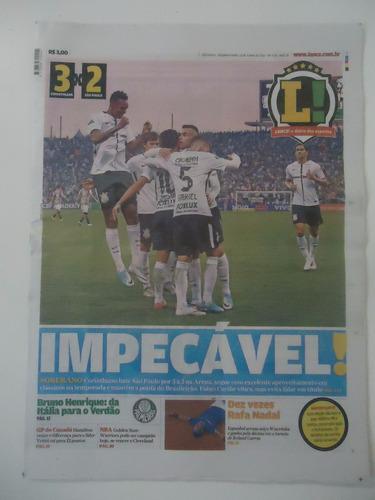 Jornal Lance 12 jun 2017 Corinthians 3 X 2 São Paulo
