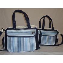 Bolsa Bebe E Mala Maternidade Kit C/ Frasqueira Lateral