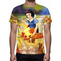 Camisa, Camiseta Disney Branca De Neve Mod 03