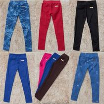 Calça Leging Jeans Infantil E Cores Montaria