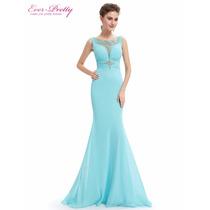 Vestido Verde Tiffany/madrinha/casamento/mãe De Noiva