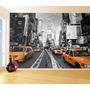 Papel De Parede Turismo Viagens Nova York Táxis 7,5m² Ntr68