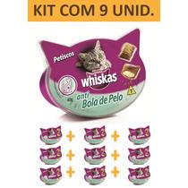 Petisco Gato Whiskas Anti Bola De Pelo - Kit Com 9 Unidades