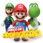 1 Boneco Mario Articulado Bros Luigi Yoshi Grande Original