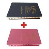 2 Biblia Sagrada Letra Gigante Com Indice E Harpa