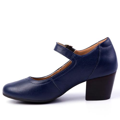 b9fc0675a1919 Sapato Feminino 287 Em Couro Petróleo Doctor Shoes. Preço: R$ 229 9 Veja  MercadoLibre