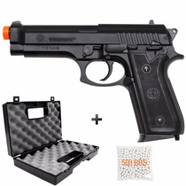 Pistola De Airsoft Spring Cybergun Taurus Pt92 Abs + Case