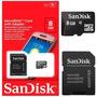 5 Unidades Cartão Micro Sd Memória 8gb Sandisk
