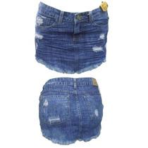 Saia Jeans Feminina Sawary Pronta Entrega Ref 236283