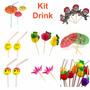 Kit C/ 60 Enfeites P/ Drink - Festa, Balada, Casamento, Bar
