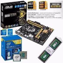 Kit Asus B85m-e Br + I5 4460 3.2 Ghz + Memória 8 Gb 1600mhz
