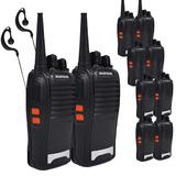 Kit 10 Rádios Comunicador Vhf/uhf/ Fm Baofeng 777s Walktalk