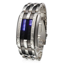 Relógio Masculino Metal Predador. Super Led. Relógio De Aço.