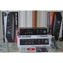 Placa Interface M Audio M Track Plus Modelo Novo C/ Software