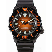 Seiko Black & Orange New Monster Srp311k1 200mts -frete Grat