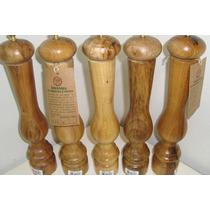 Moedor Triturador De Pimenta Em Madeira E Ferro 19cm Cozinha