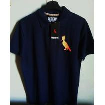 Camisa Polo Marca Famosa Reser... Azul Marinho Tm G