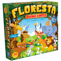 Quebra Cabeça Puzzle Madeira Mdf Animais Floresta 30 Peças