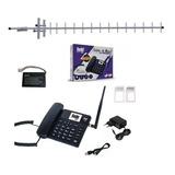 Kit Telefone Celular Rural Com Internet 3g E Roteador Wi-fi