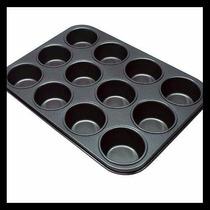 Kit C/2 Forma Anti-aderente P/cupcake Pão De Queijo Aço