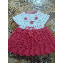 Lindo Vestido Em Croche , Para Bebe