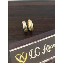 Par De Aliança Em Ouro 18k Noivado/casamento Modelo 080