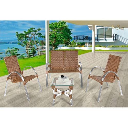 Conjunto Driely Com 02 Cadeiras 01 Namoradeira E 01 Mesa