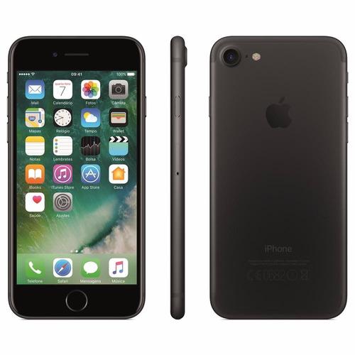 Iphone 7 32gb, Tela Retina Hd De 4,7 3d Touch Preto Matte