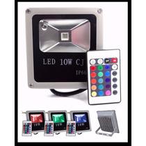 Refletor Holofote De Led 10w Rgb,com Controle.