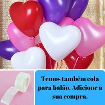 Balão Coração Bexiga Amor Love Festa Namorad 10 Unidades