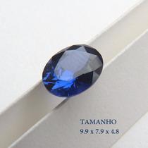 Safira Pedra Preciosa Formato Oval Safira Azul 3053