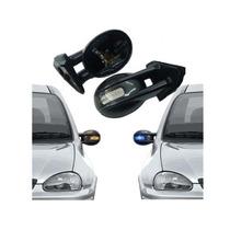 Par Retrovisor Carbono C/ Pisca Lanterna Led Adaptável Corsa