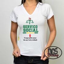 Camisetas Personalizada Serviço Social Feminina