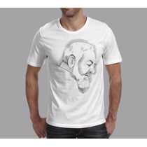 Camiseta Católica São Padre Pio Jesus Rcc Igreja Uselouve