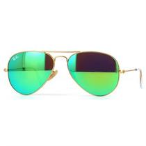 Óculos De Sol Feminino Ray Ban Aviador Dourado Espelhelado