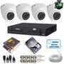 Kit Intelbras 4 Câmeras Dome 1010d Multi Hd 1.0 Mp + Dvr 4ch