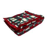 Cobertor Guaratinguetá Boa Noite Casal Vermelho Xadrez