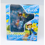 Boneco Pokemon Treinador Ash E Mini Pikachu Imagens Reais