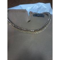 Blusa Zara Fashion Luxo Linda Knit Colar Dourado Acoplado