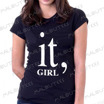 Baby Look Camiseta It Girl Personalizado Blusa Feminina