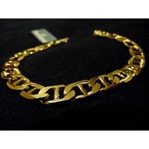 Bracelete Pulseira Masculina Grossa Banho Ouro 18k Barata