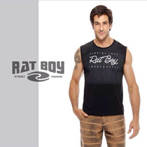 Camiseta Regata Masculina Rat Boy - Preta
