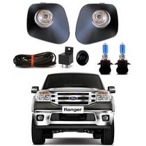 Kit Farol De Milha Ranger 2010 2011 2012+lampada Super Braca